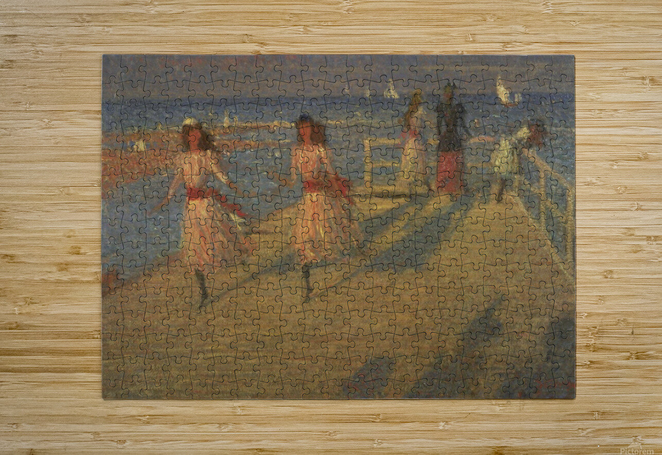 Girls Running  HD Metal print with Floating Frame on Back