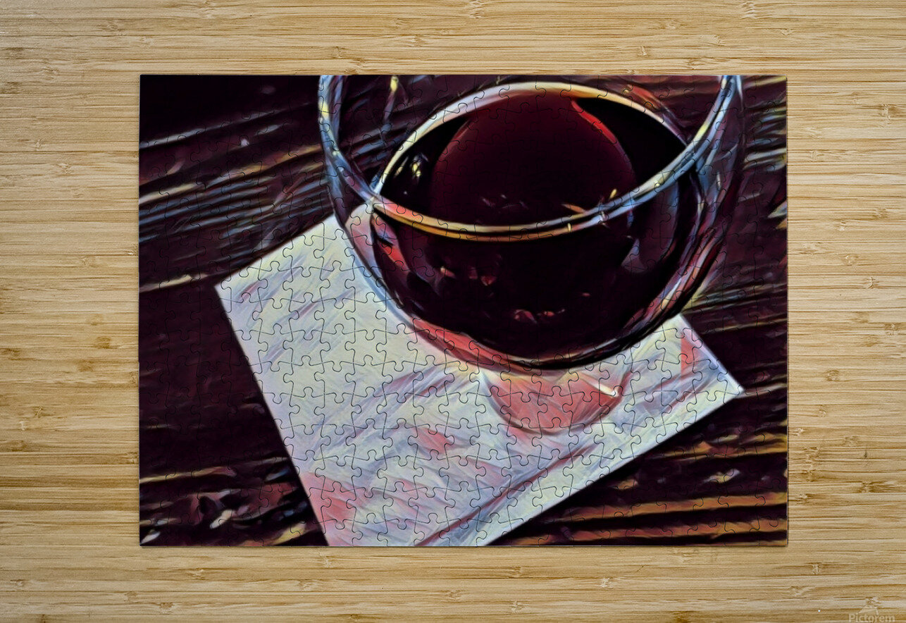 Wine Art  HD Metal print with Floating Frame on Back