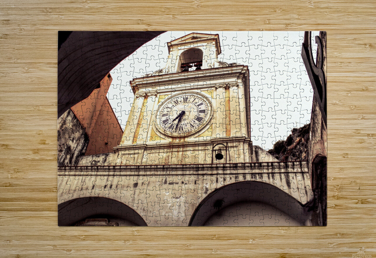 The Church  - Tower Clock  HD Metal print with Floating Frame on Back