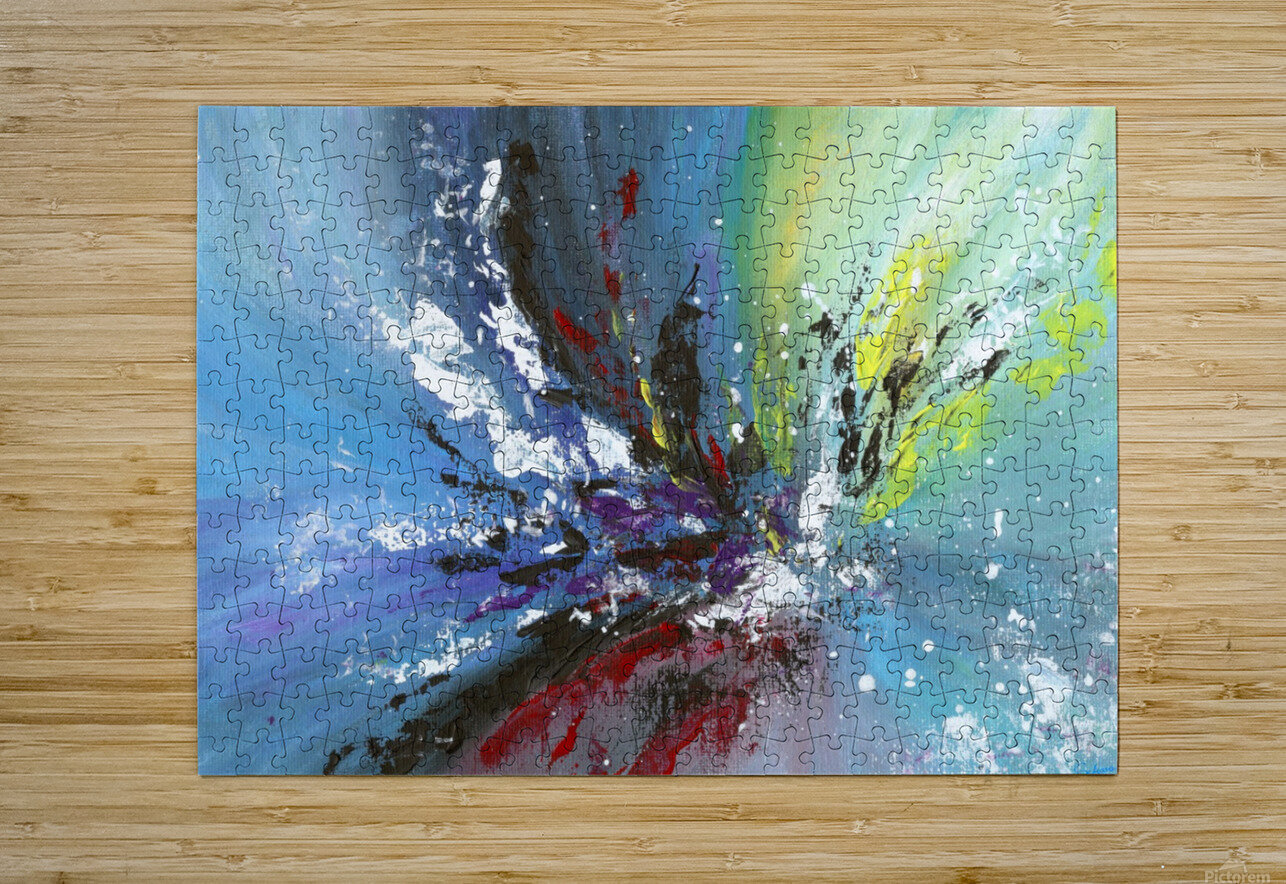 Abstract 165  HD Metal print with Floating Frame on Back