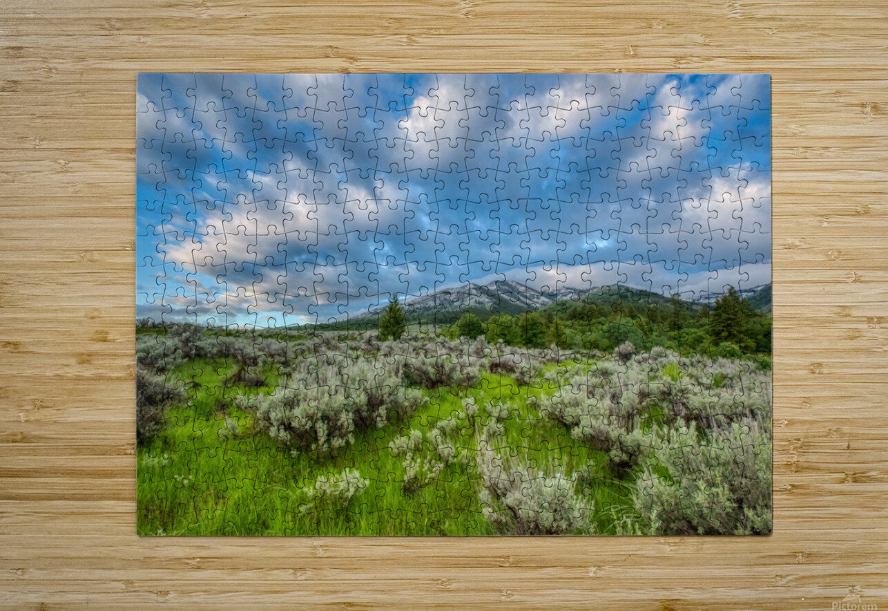 Goodenough Canyon Landscape  HD Metal print with Floating Frame on Back