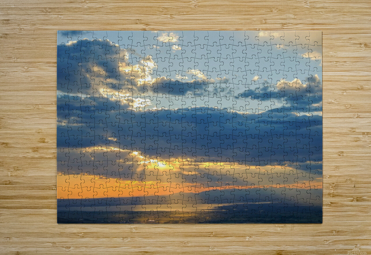 Portneuf Valley at Sunset  HD Metal print with Floating Frame on Back