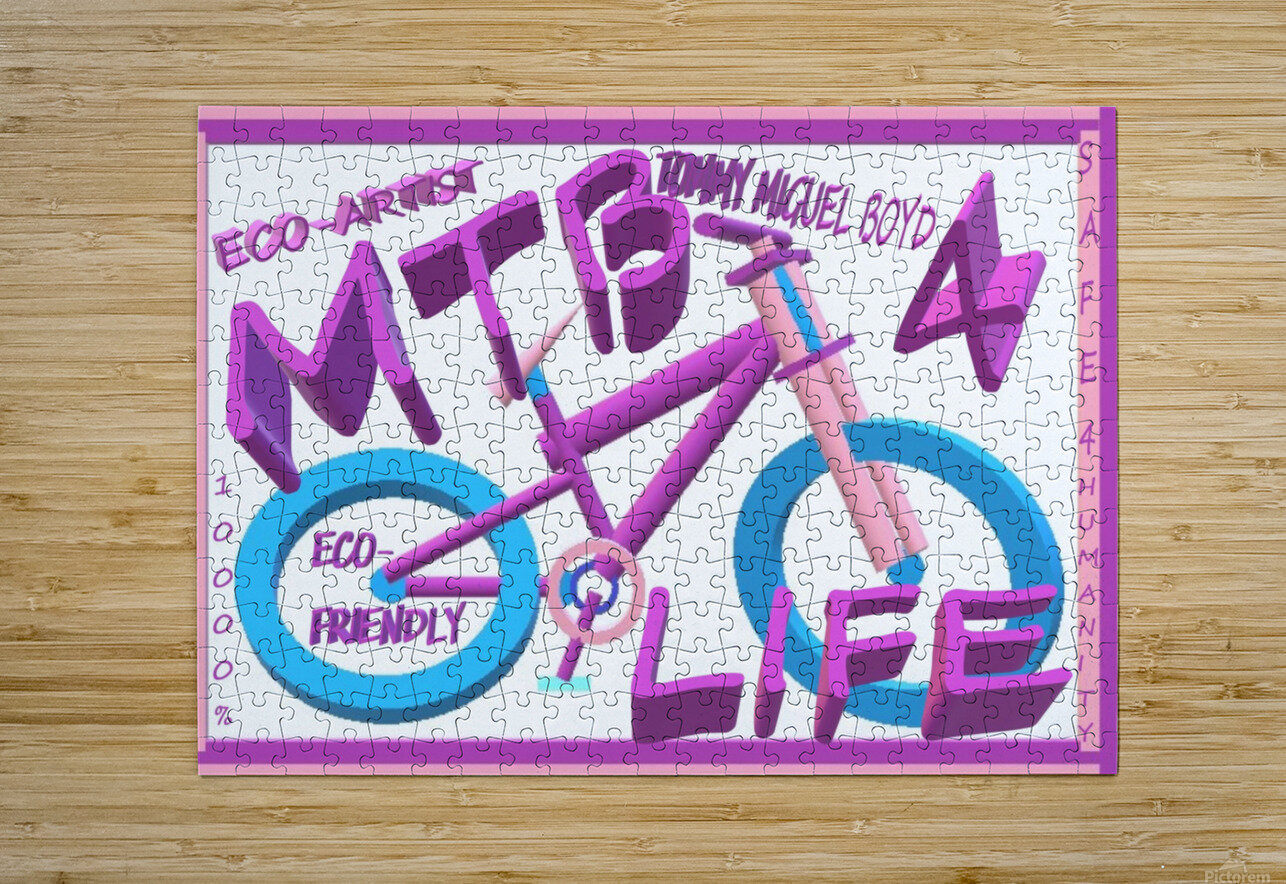 MTB 4 LIFE   ECO ARTIST TOMMY BOYD  HD Metal print with Floating Frame on Back