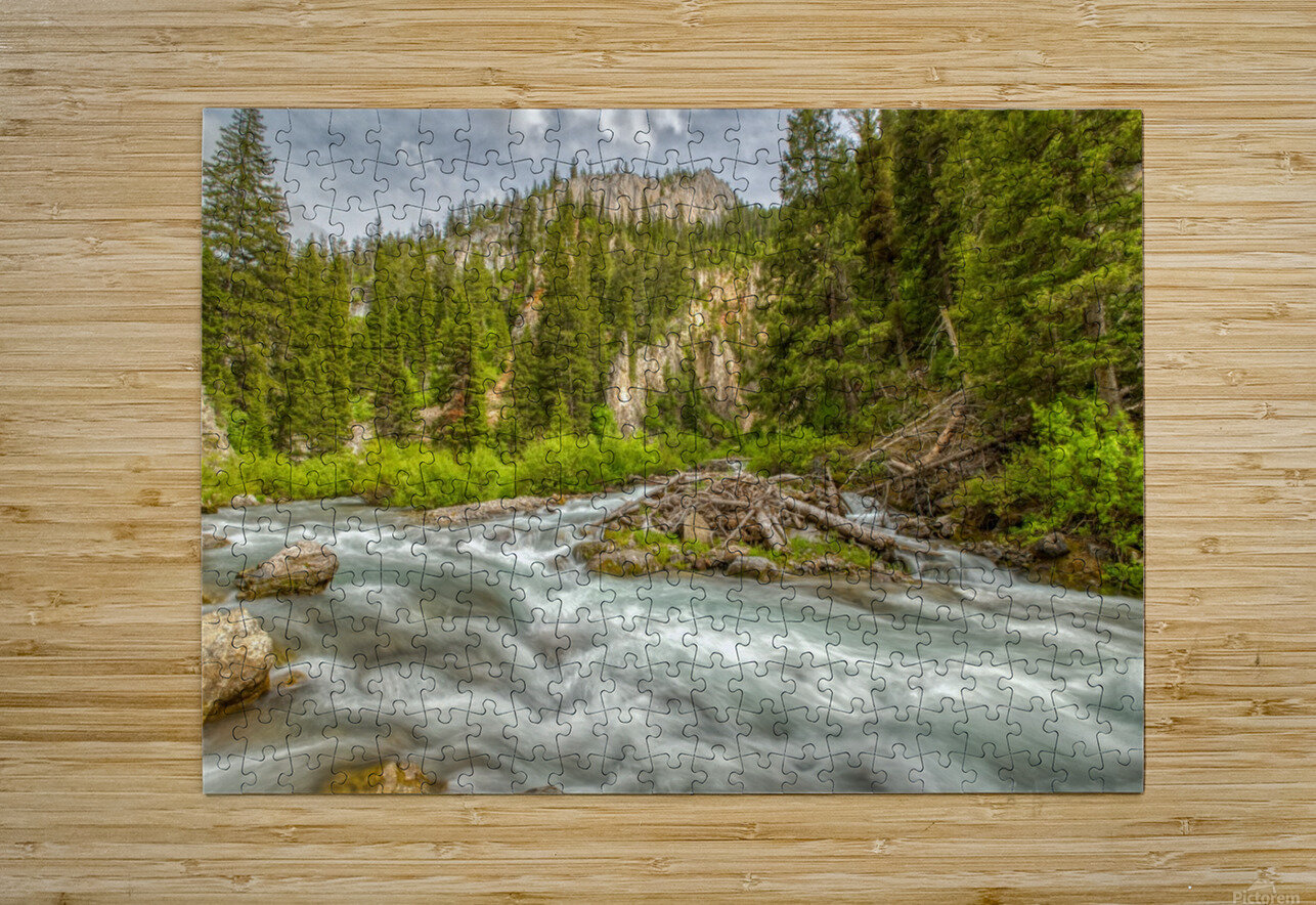 Periodic Spring Flowing into Swift Creek  HD Metal print with Floating Frame on Back