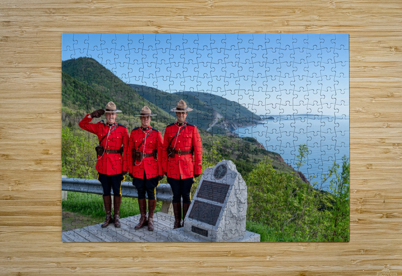 RCMP on French Mountain  HD Metal print with Floating Frame on Back
