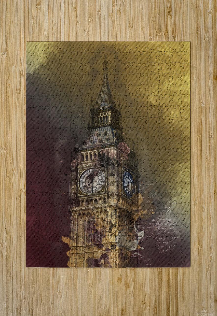 london big ben building  HD Metal print with Floating Frame on Back