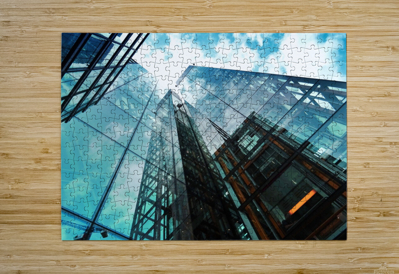 architectural design architecture building business  HD Metal print with Floating Frame on Back