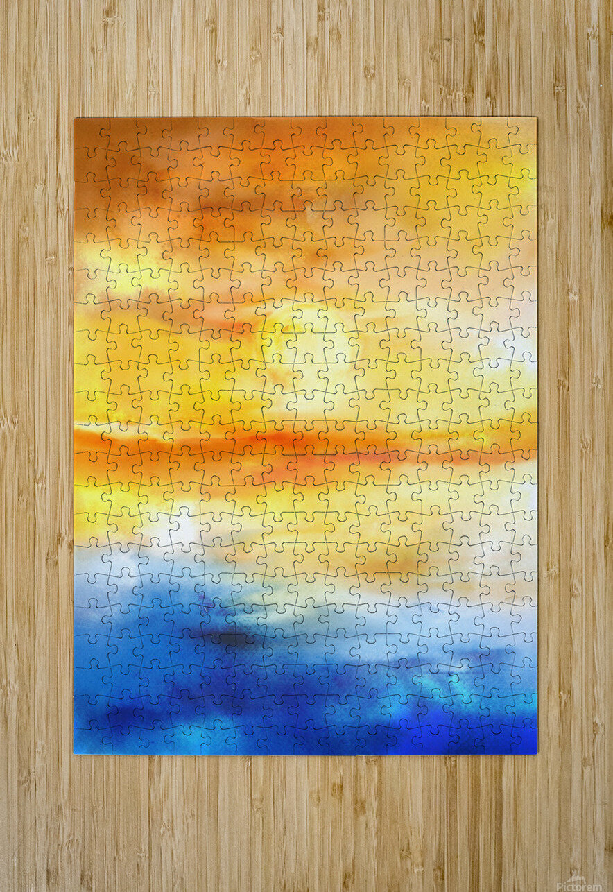 Abstract Warm Sunset I  HD Metal print with Floating Frame on Back