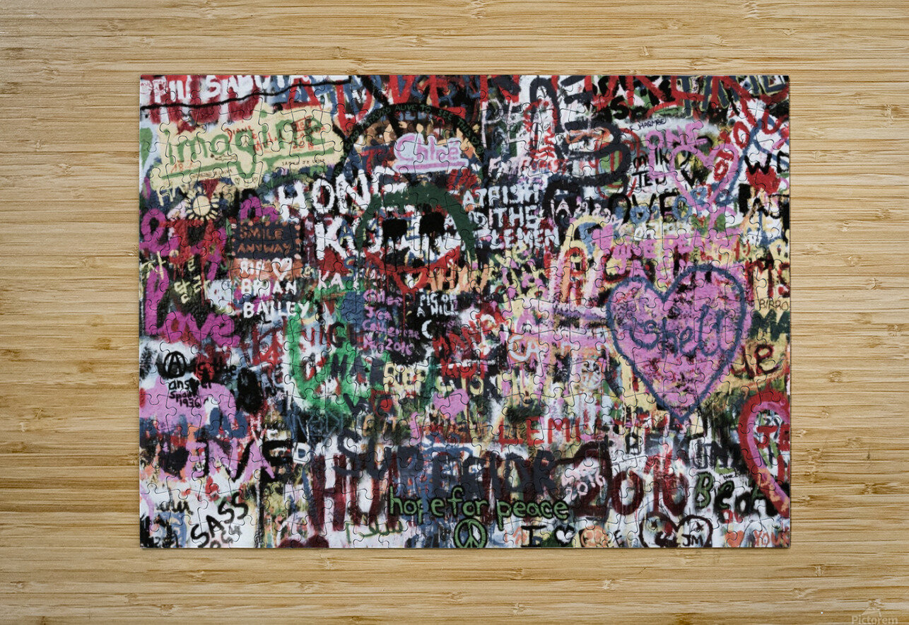 Graffiti Wall Background  HD Metal print with Floating Frame on Back