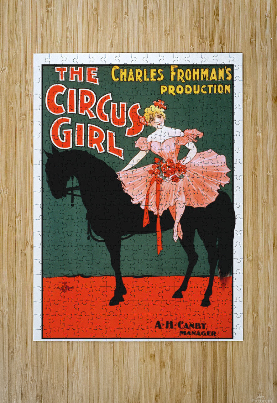 the circus girl vintage poster girl  HD Metal print with Floating Frame on Back