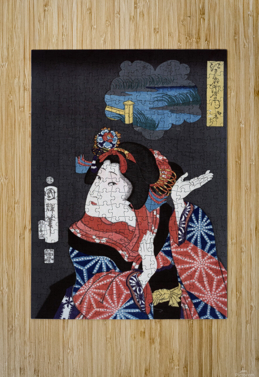 japanese maiden young woman female  HD Metal print with Floating Frame on Back