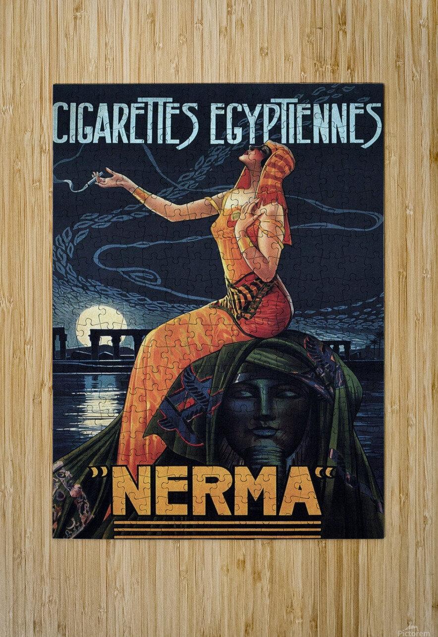 vintage poster print advertisement  HD Metal print with Floating Frame on Back