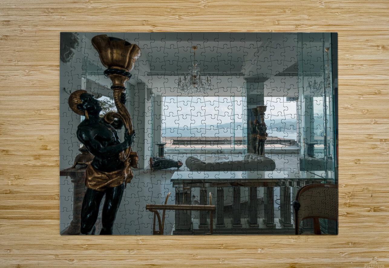 Abandoned Billionaires Mansion  HD Metal print with Floating Frame on Back