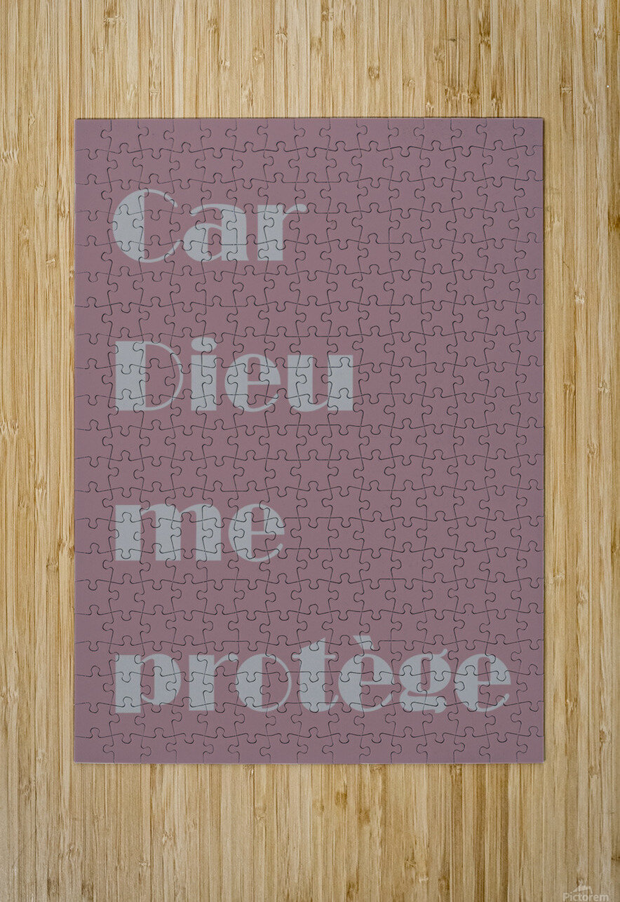 Car Dieu me protège  HD Metal print with Floating Frame on Back