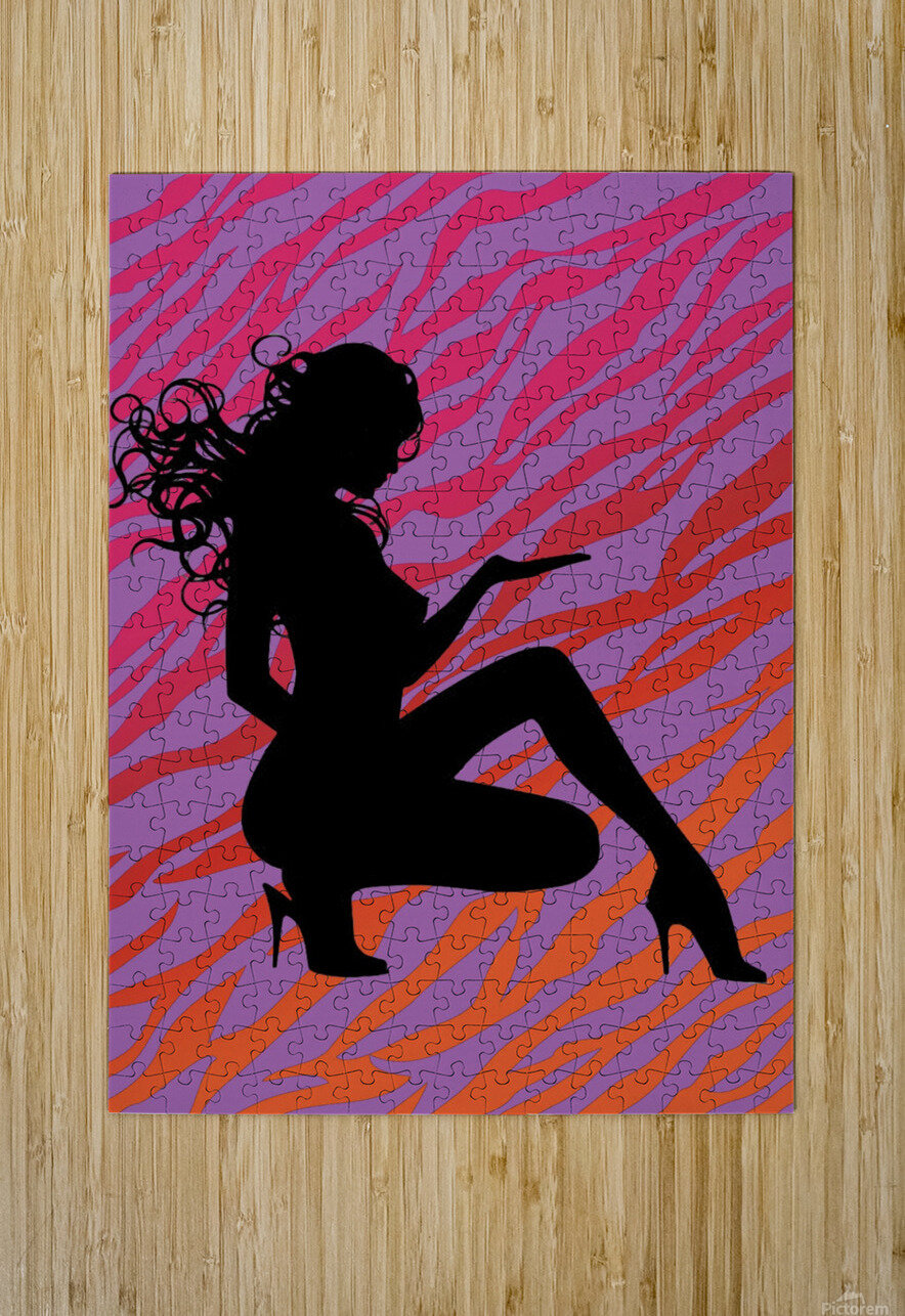 Silhouette 7  HD Metal print with Floating Frame on Back