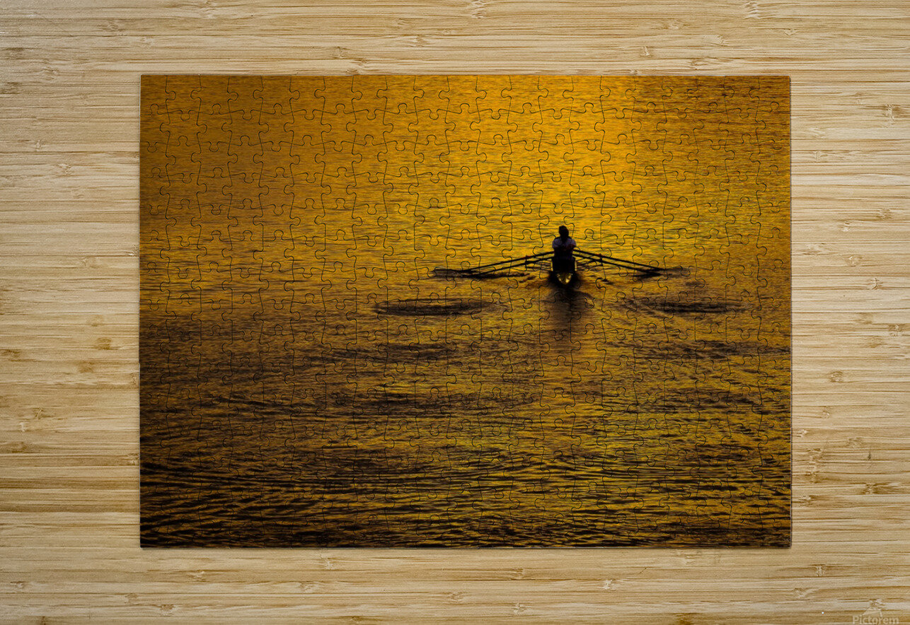 Morning Row  HD Metal print with Floating Frame on Back