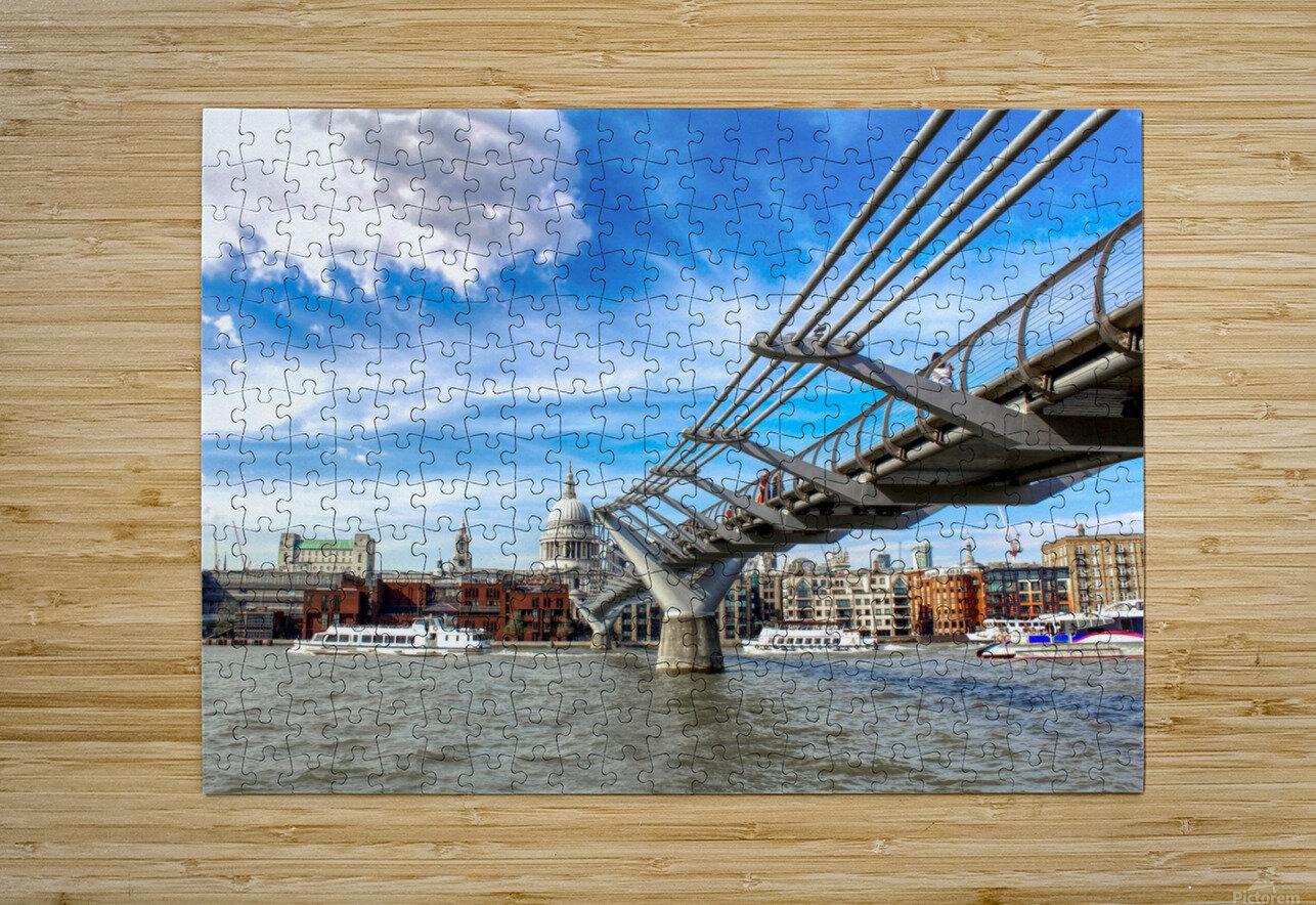 Landscape - London skyline - St Pauls Cathedral  HD Metal print with Floating Frame on Back