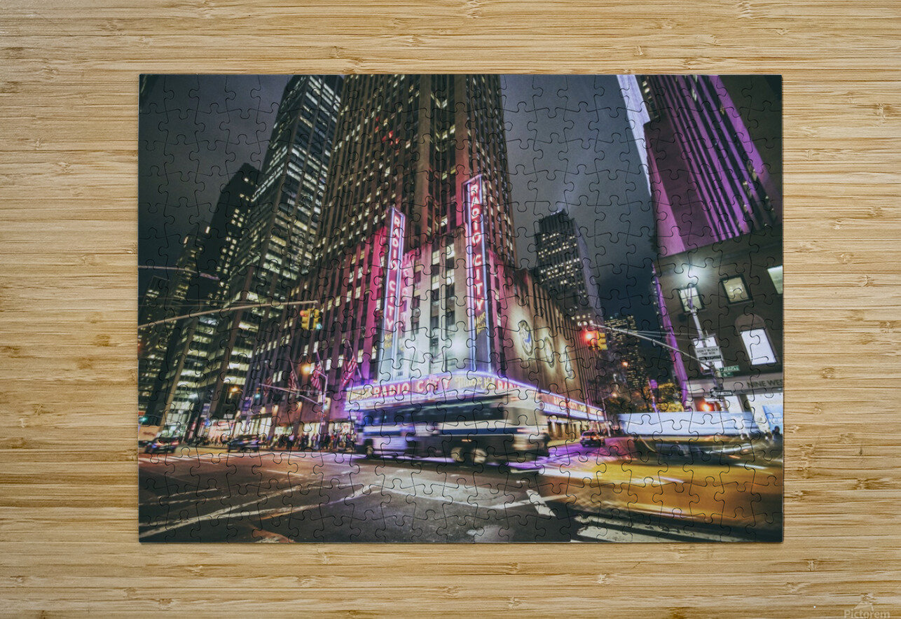 Radio City  HD Metal print with Floating Frame on Back