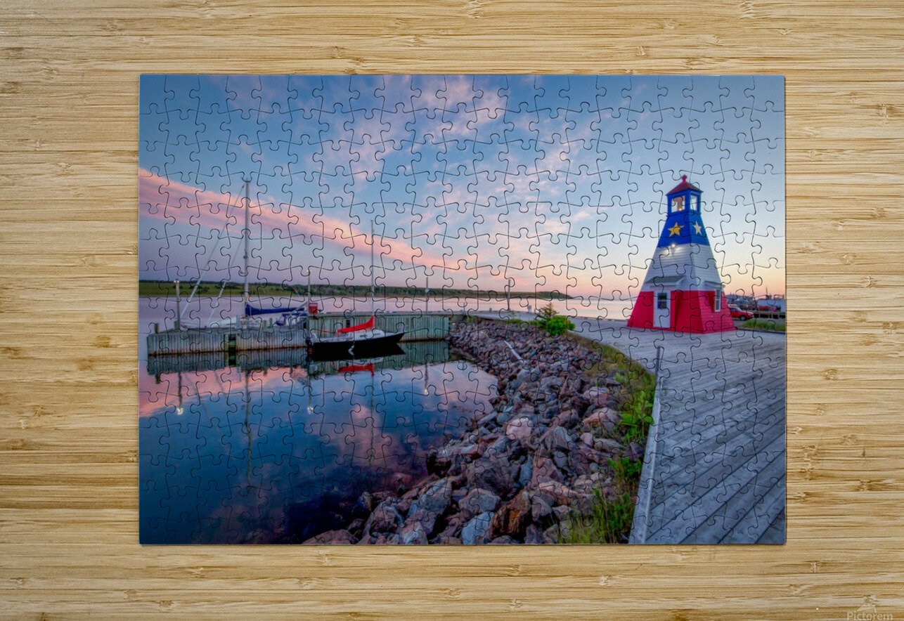 Acadian Skies  HD Metal print with Floating Frame on Back