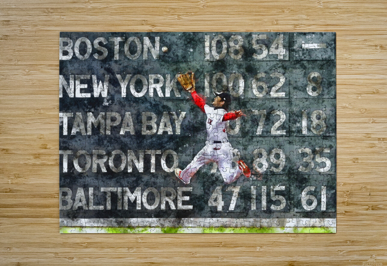 ANDREW BENINTENDI Water Color Print - Boston Red Sox Print  HD Metal print with Floating Frame on Back