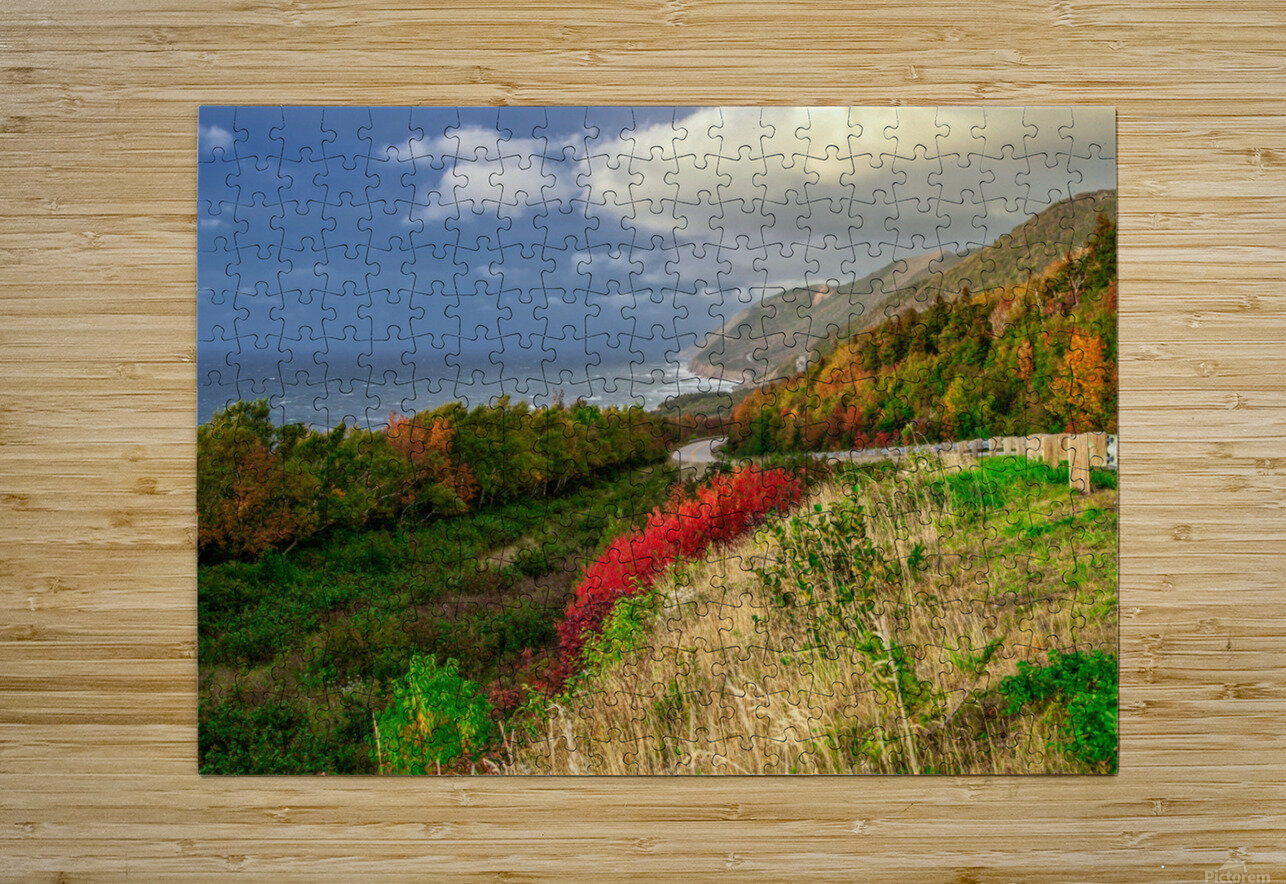 Cabot Trail Colors  HD Metal print with Floating Frame on Back