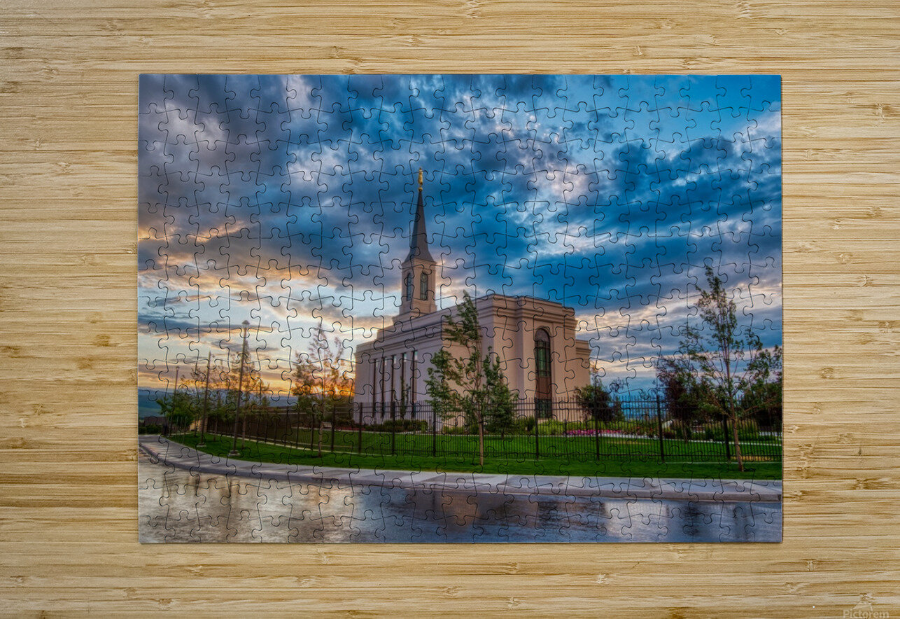Star Valley Wyoming Temple - The Church of Jesus Christ of Latter-day Saints  HD Metal print with Floating Frame on Back
