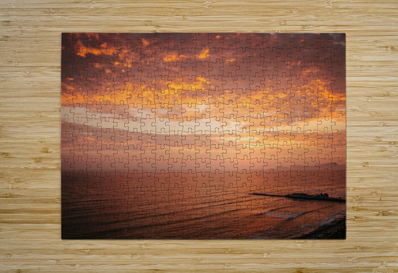 Lima Sunset  HD Metal print with Floating Frame on Back