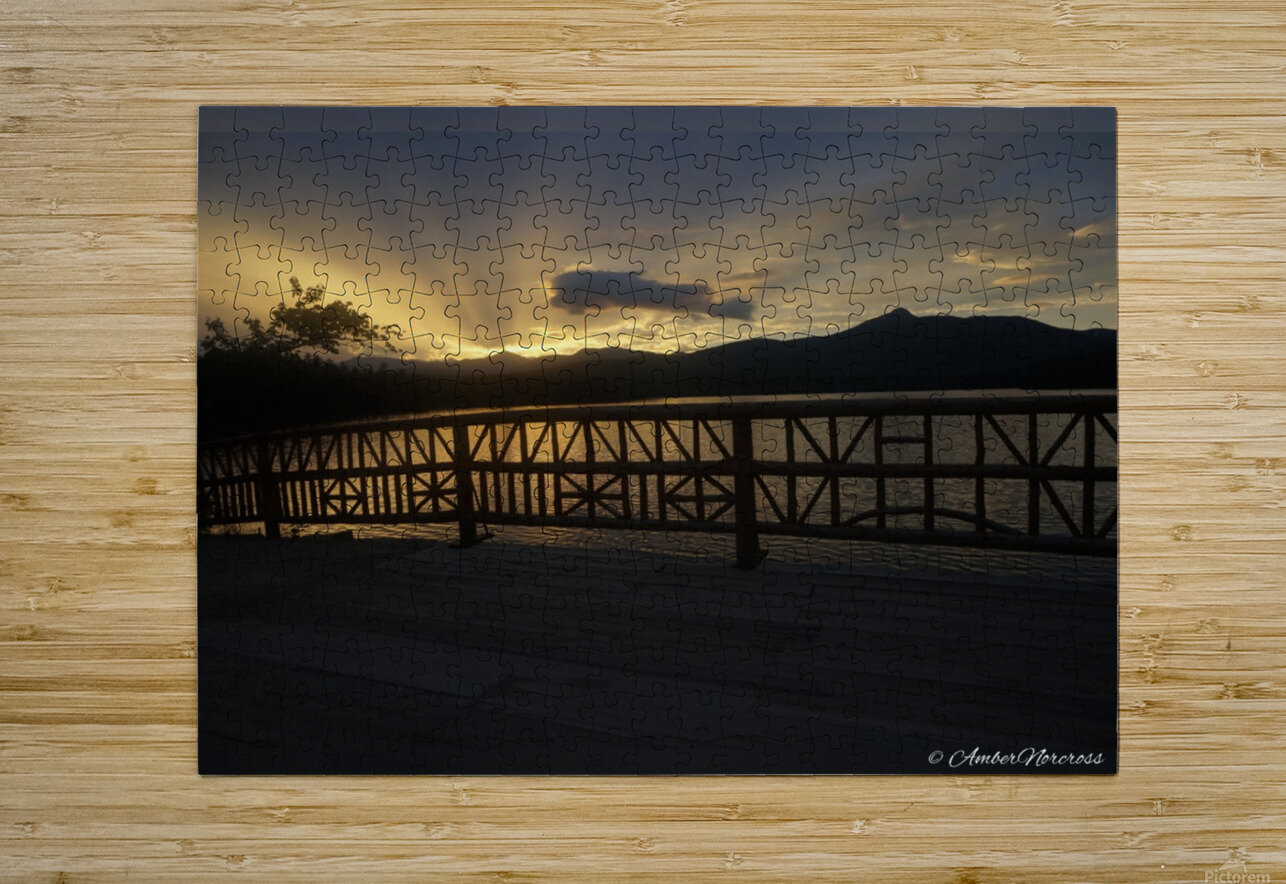 Golden hour  HD Metal print with Floating Frame on Back
