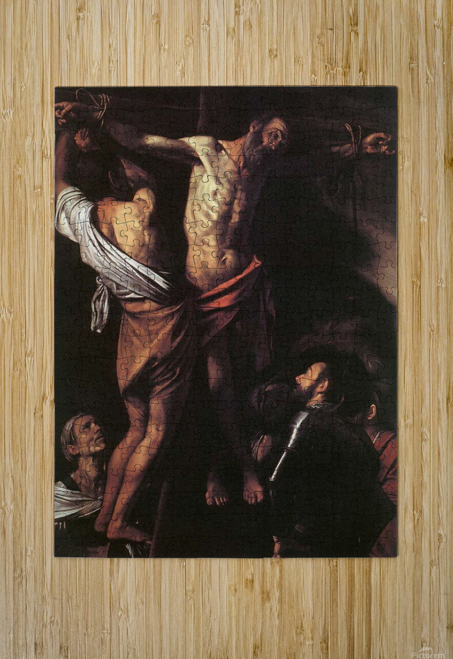 Crucifixion of Sant Andrew  HD Metal print with Floating Frame on Back