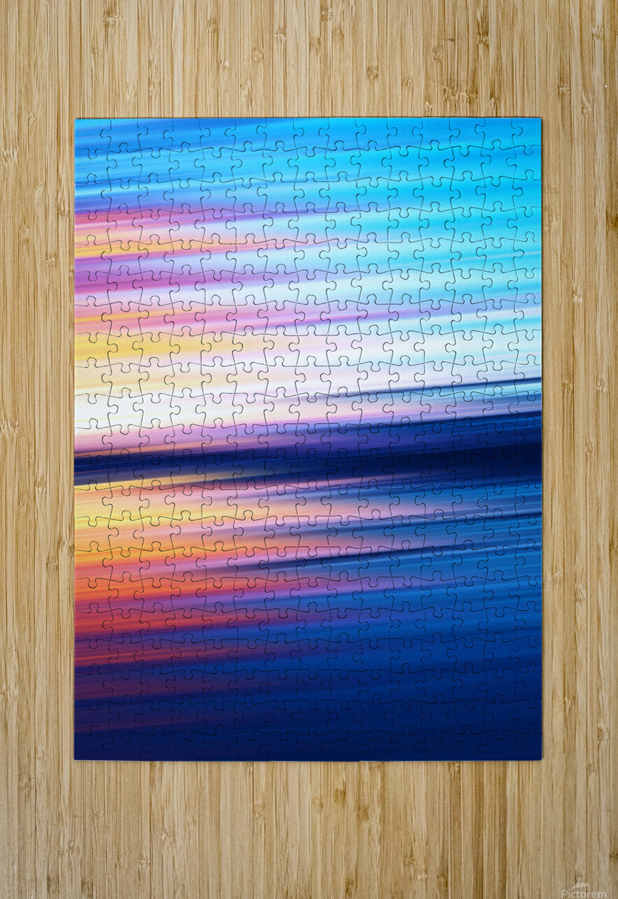 Abstract Sunset XI  HD Metal print with Floating Frame on Back