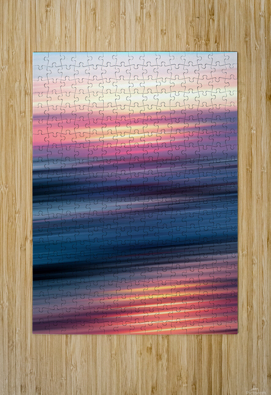 Abstract Sunset XII  HD Metal print with Floating Frame on Back