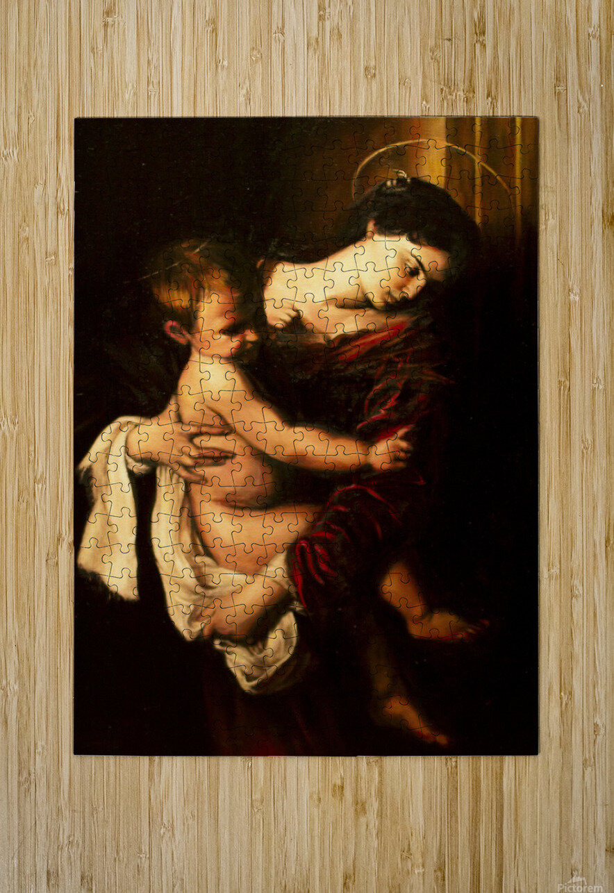 Virgin Mary and Child  HD Metal print with Floating Frame on Back