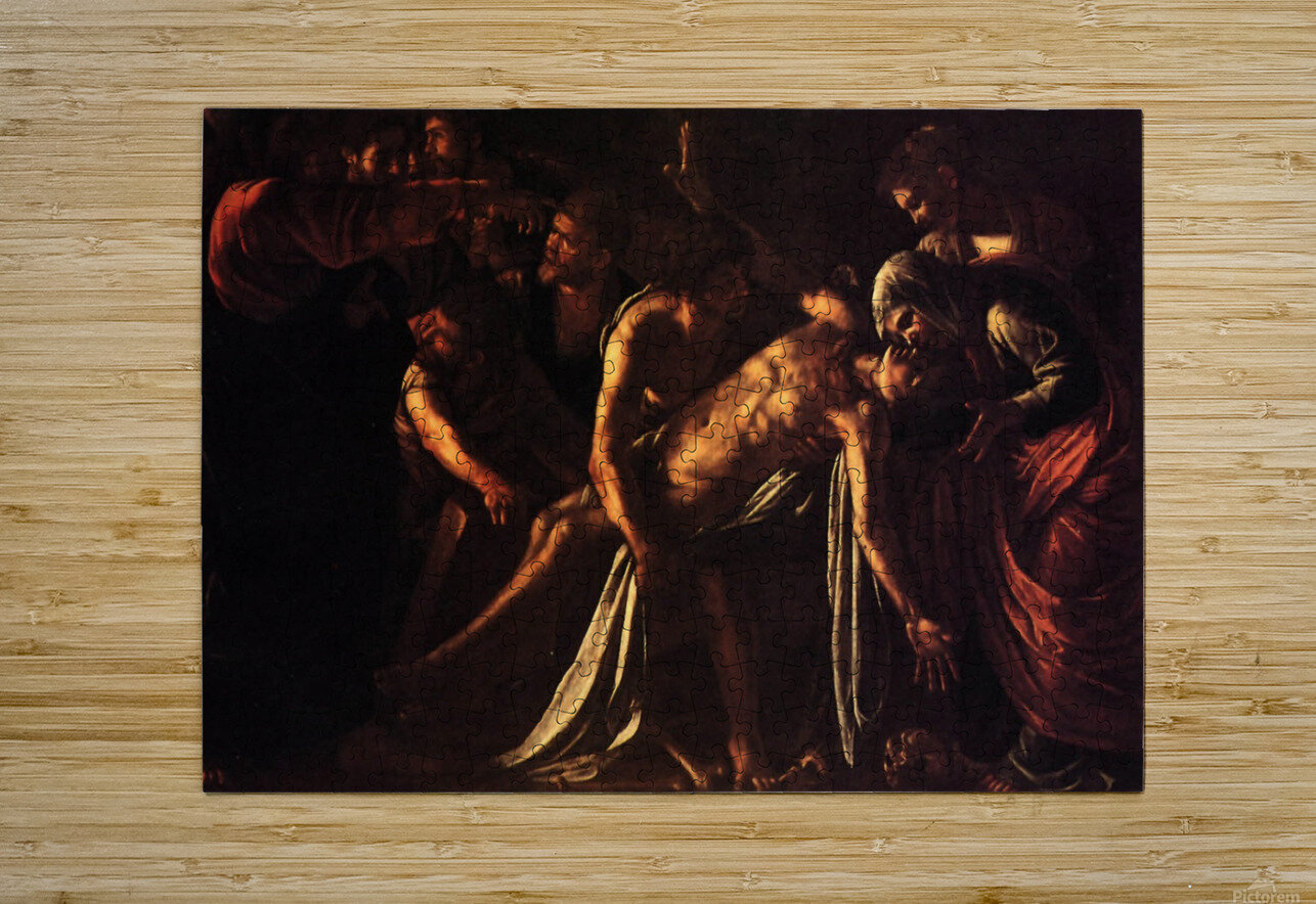 The ressurection of Lazarus  HD Metal print with Floating Frame on Back