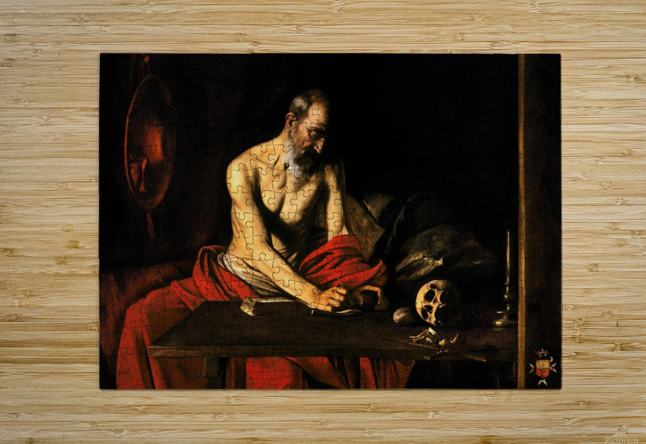 Saint Jerome writing  HD Metal print with Floating Frame on Back