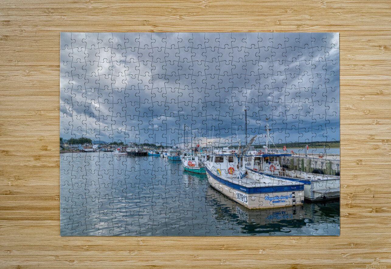 Approaching Storm Clouds - Cheticamp Harbour  HD Metal print with Floating Frame on Back
