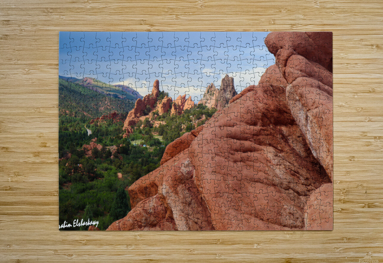 Beautiful Red Rock structures in the Desert  HD Metal print with Floating Frame on Back
