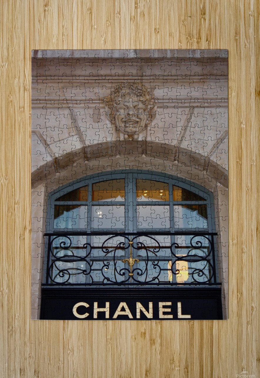 Chanel Paris  HD Metal print with Floating Frame on Back