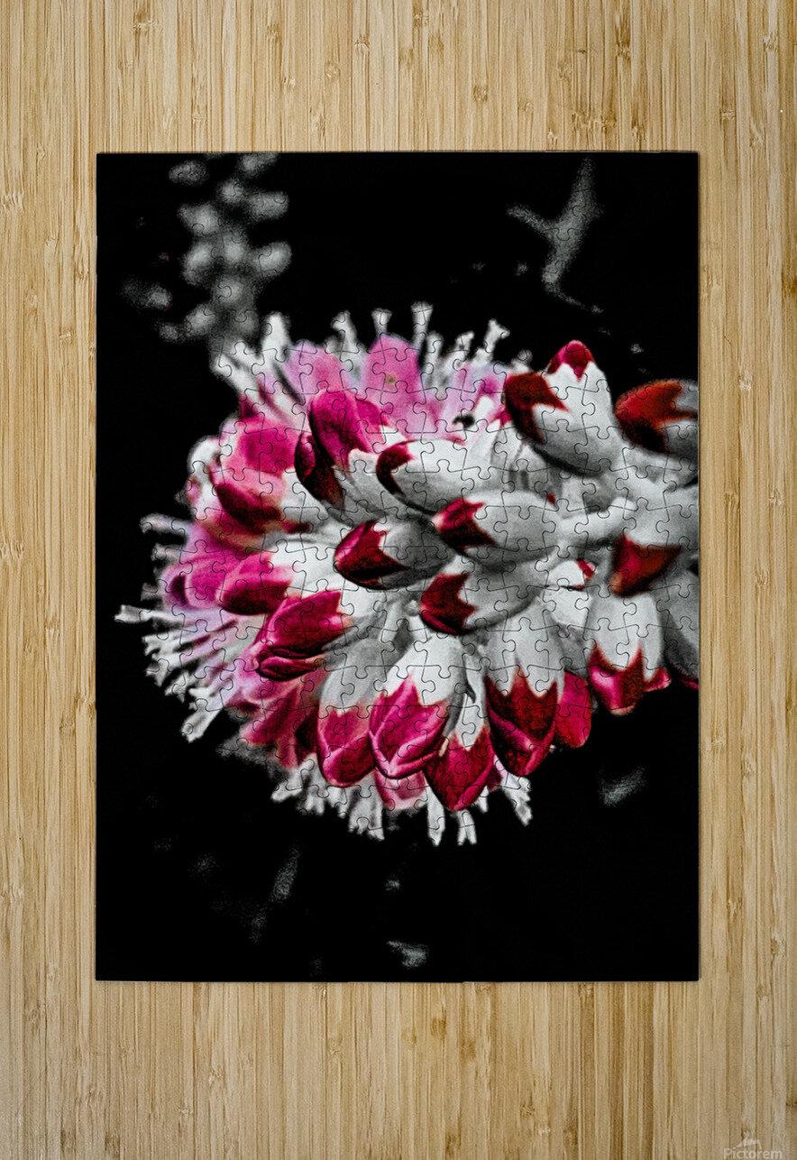 Pink Tree   Impression métal HD avec cadre flottant sur le dos