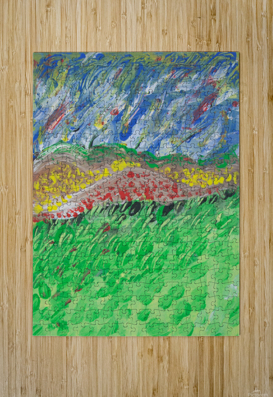 windy landscape  HD Metal print with Floating Frame on Back