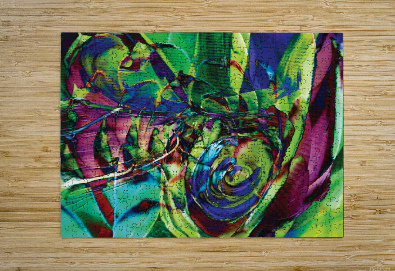 swirling abstract shapes   HD Metal print with Floating Frame on Back