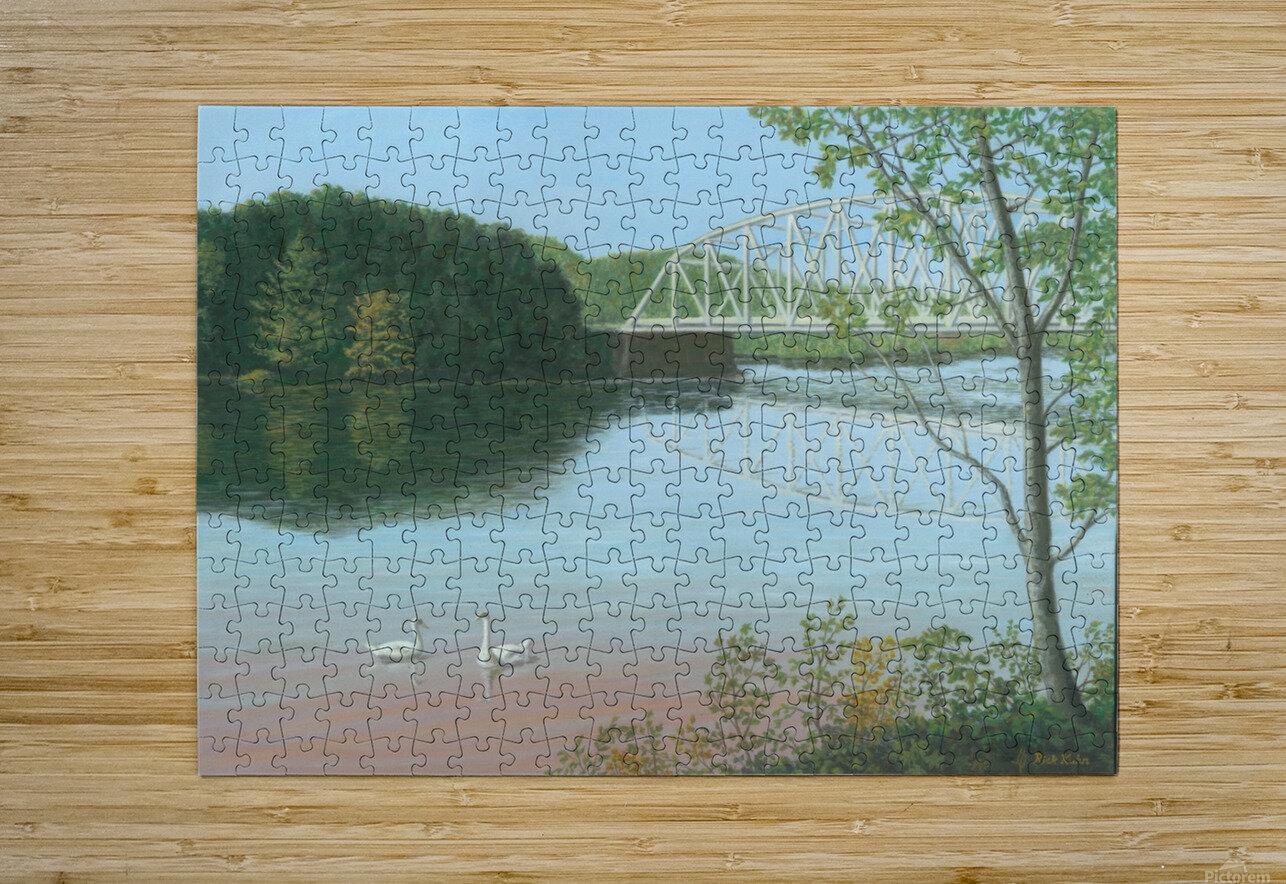 Silver Bridge - Newtown Scenes 18X24  HD Metal print with Floating Frame on Back