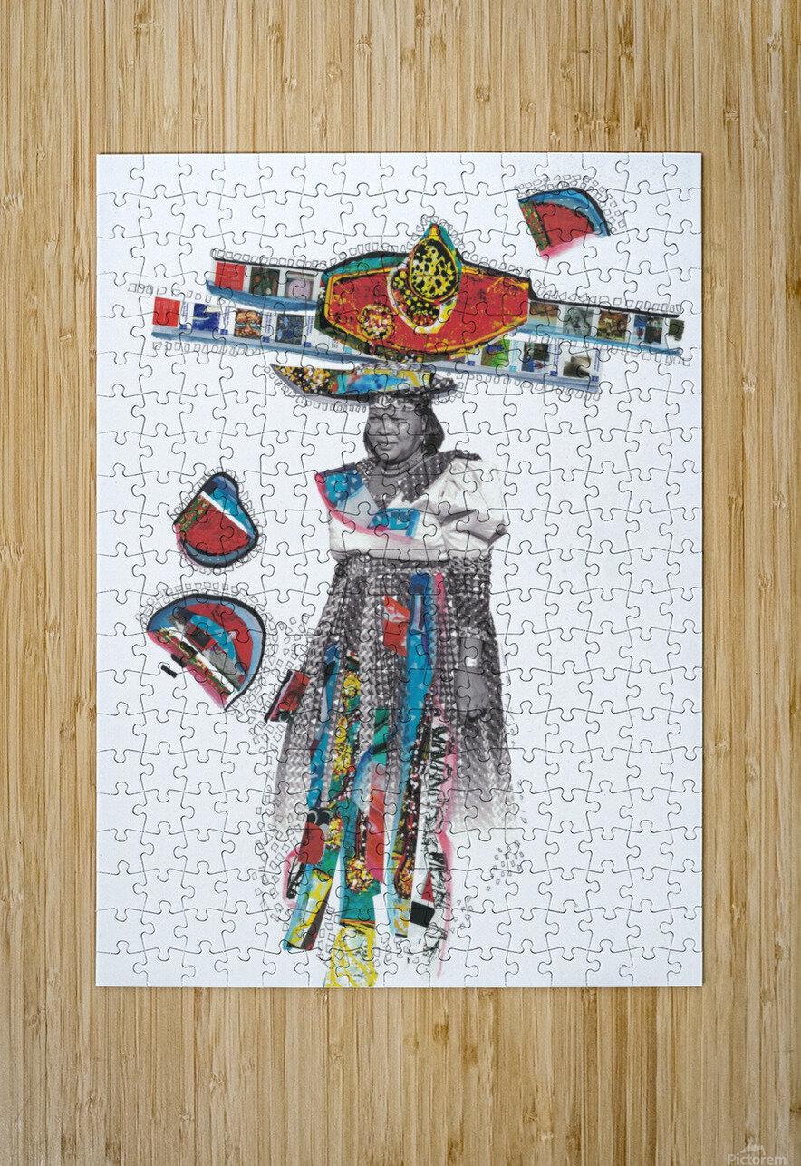 Herero Woman 7  Impression métal HD avec cadre flottant sur le dos