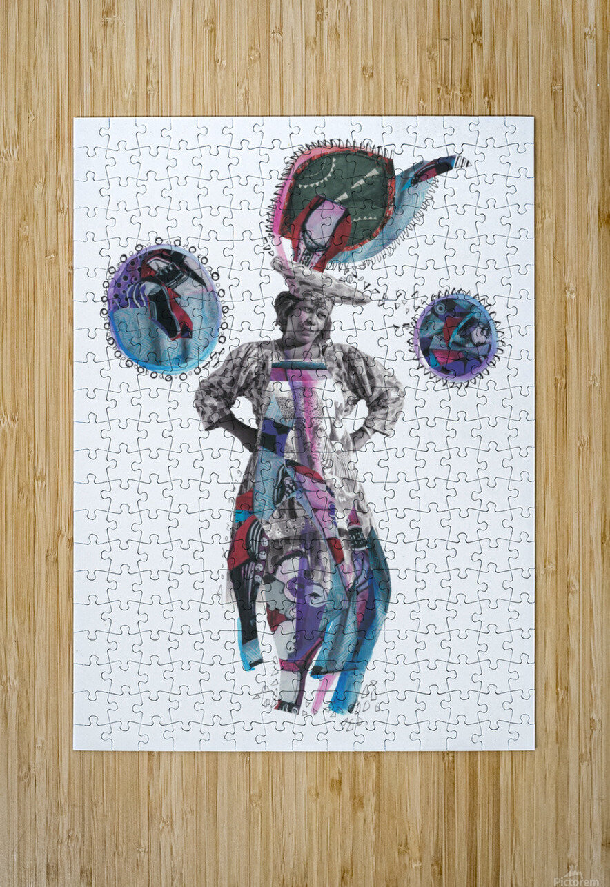 Herero Woman 3  HD Metal print with Floating Frame on Back