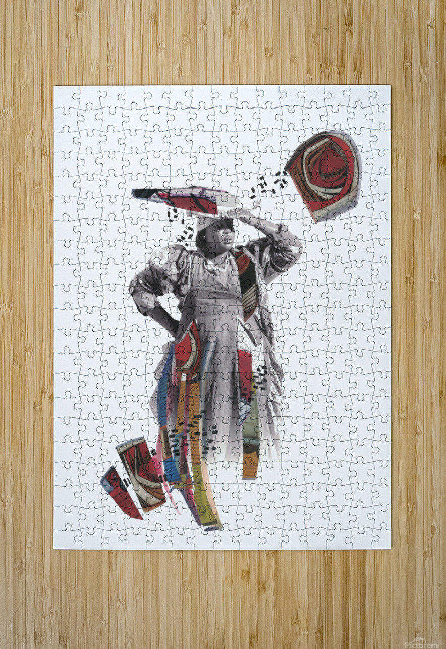 Herero woman 1  Impression métal HD avec cadre flottant sur le dos