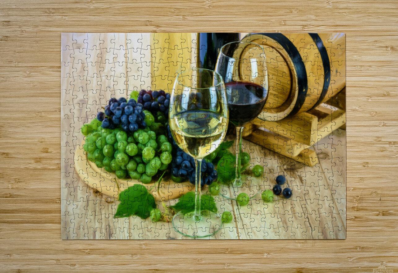 Wine Tasting  HD Metal print with Floating Frame on Back