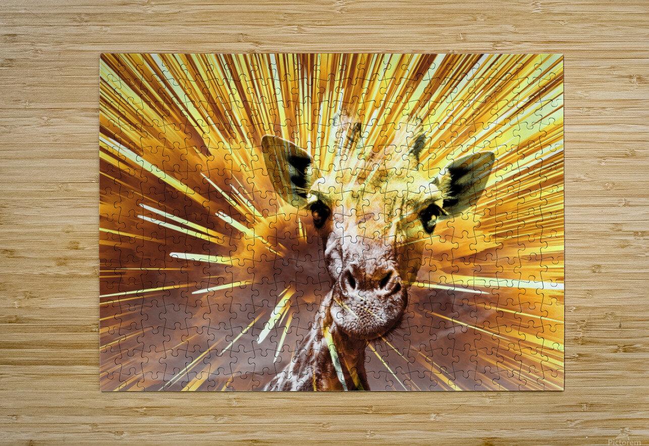 Giraffe pop 7   HD Metal print with Floating Frame on Back
