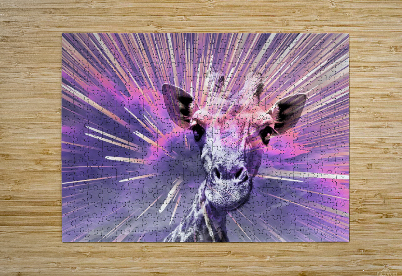 Giraffe pop 1  HD Metal print with Floating Frame on Back