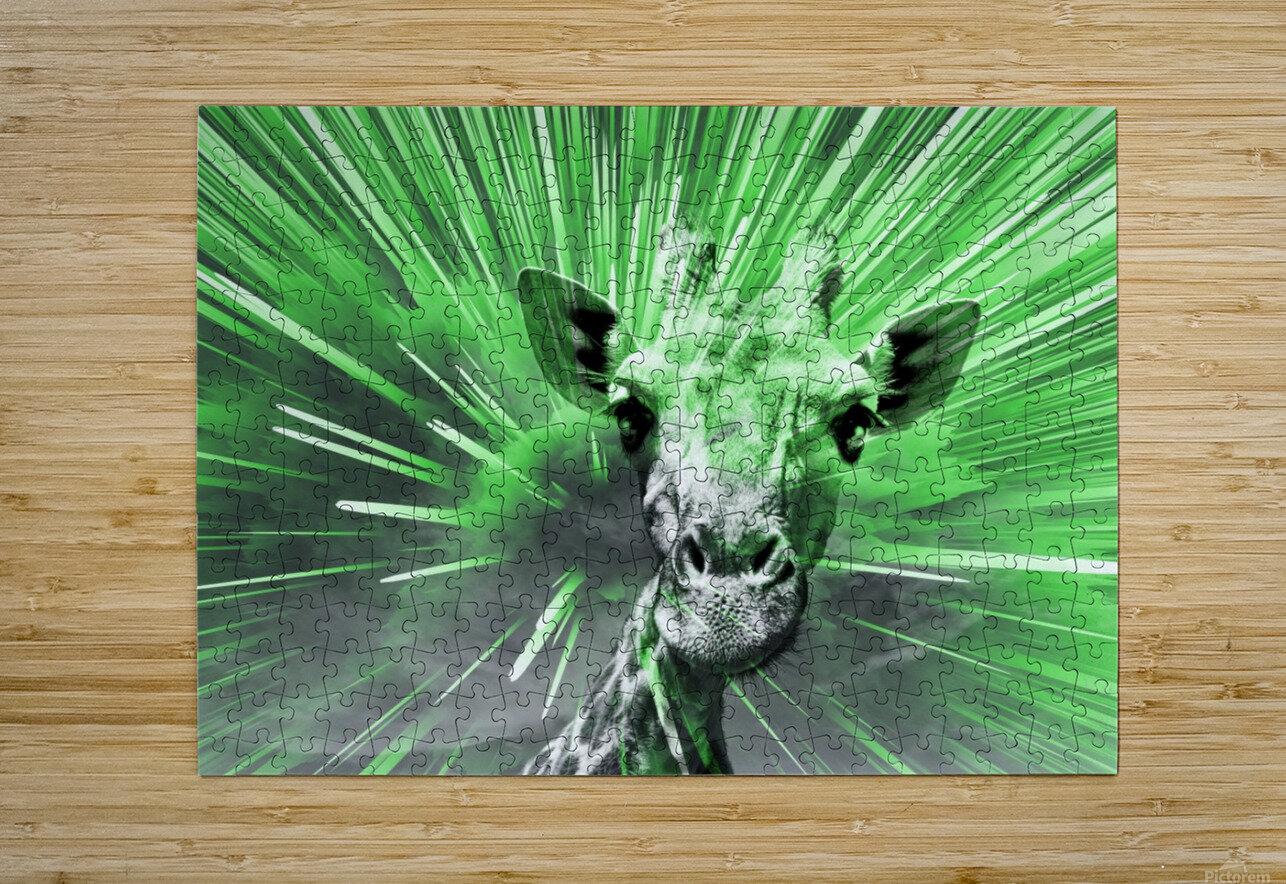Giraffe pop 4    HD Metal print with Floating Frame on Back