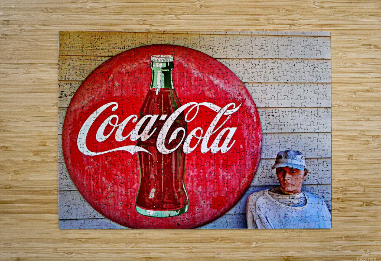 Coke    HD Metal print with Floating Frame on Back