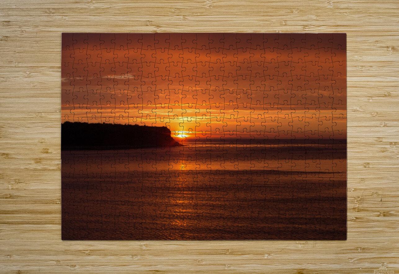 Orange Sunshine  HD Metal print with Floating Frame on Back